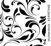 floral seamless pattern. not... | Shutterstock .eps vector #614987468