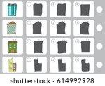 match shadow   worksheet for... | Shutterstock .eps vector #614992928