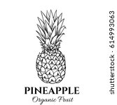 hand drawn pineapple icon.... | Shutterstock .eps vector #614993063