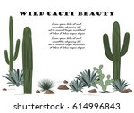 background with cactuses and...   Shutterstock .eps vector #614996843