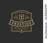 luxury monogram logo template... | Shutterstock .eps vector #615006599