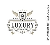 luxury logo template vector... | Shutterstock .eps vector #615006719