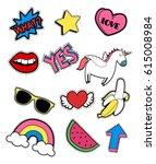 patch set. vector. | Shutterstock .eps vector #615008984