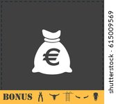 money bag icon flat. simple...