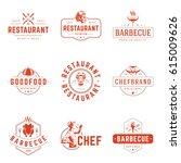 restaurant logos templates... | Shutterstock .eps vector #615009626