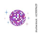 disco ball vector icon disco... | Shutterstock .eps vector #615009629