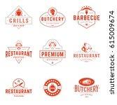 restaurant logos templates... | Shutterstock .eps vector #615009674