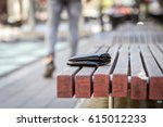 man lost his wallet on a bench... | Shutterstock . vector #615012233