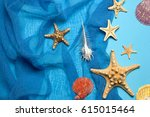 marine blue background with... | Shutterstock . vector #615015464