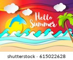 summer. | Shutterstock .eps vector #615022628