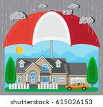 house and car protection... | Shutterstock .eps vector #615026153