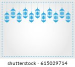 lanterns hanging decorative.... | Shutterstock .eps vector #615029714