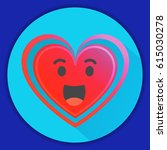 heart icon with the smiling in... | Shutterstock .eps vector #615030278