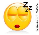 emoji  emoticon   sleeping | Shutterstock . vector #615040004