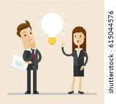 business man and woman ... | Shutterstock .eps vector #615044576