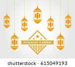 ramadan kareem. greeting card | Shutterstock . vector #615049193