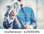 future of financial technology... | Shutterstock . vector #615050396