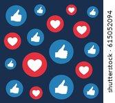 likes and loves symbols  social ... | Shutterstock .eps vector #615052094