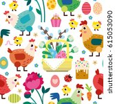 ester pattern | Shutterstock .eps vector #615053090