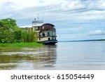 cruise ship on the amazon river ...   Shutterstock . vector #615054449