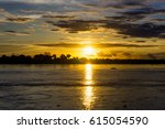 boat on the amazon river at... | Shutterstock . vector #615054590