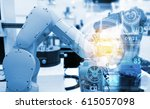 industrial internet of things... | Shutterstock . vector #615057098