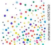 sparse watercolor confetti on... | Shutterstock . vector #615057260