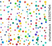 sparse watercolor confetti on... | Shutterstock . vector #615057404