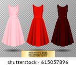 women's dress mockup collection.... | Shutterstock .eps vector #615057896