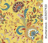 seamless pattern with fantasy... | Shutterstock .eps vector #615057920