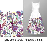 vertical seamless fashion... | Shutterstock .eps vector #615057938