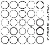 vector collection of round...   Shutterstock .eps vector #615059600