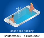 online spa booking concept.... | Shutterstock .eps vector #615063050
