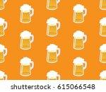 beer seamless pattern....   Shutterstock .eps vector #615066548