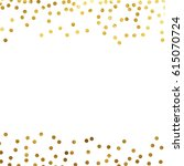 gold glitter background polka... | Shutterstock .eps vector #615070724