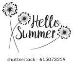 hello summer vector card with... | Shutterstock .eps vector #615073259