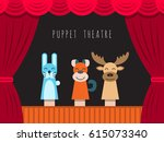 childrens performance in the... | Shutterstock .eps vector #615073340