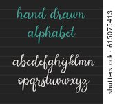 handwritten brush style... | Shutterstock .eps vector #615075413