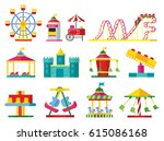 colorful attractions collection ... | Shutterstock .eps vector #615086168