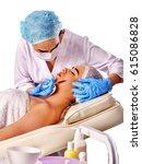 filler injection for female... | Shutterstock . vector #615086828