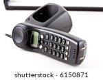 phone on the white background. | Shutterstock . vector #6150871