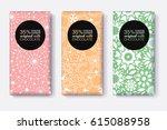 vector set of chocolate bar... | Shutterstock .eps vector #615088958