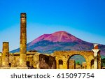the famous antique site of... | Shutterstock . vector #615097754