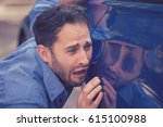 frustrated upset young man... | Shutterstock . vector #615100988