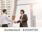 business handshake. handshake... | Shutterstock . vector #615104720