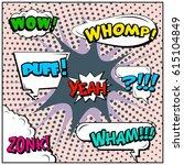 abstract creative concept comic ... | Shutterstock .eps vector #615104849