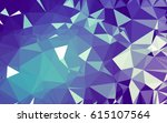 abstract low poly background ... | Shutterstock . vector #615107564