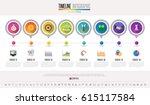 timeline infographics design... | Shutterstock .eps vector #615117584