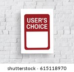 user choice customer system... | Shutterstock . vector #615118970