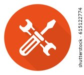 wrench and screwdriver icon | Shutterstock .eps vector #615122774